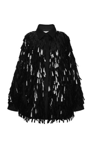 Paillette-Embellished Wool Jacket