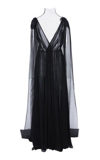 Ruched Silk-Chiffon Gown