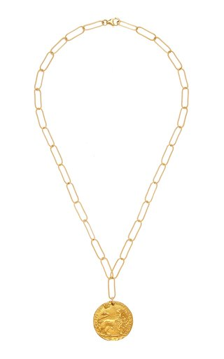 Il Leone Medallion 24K Gold-Plated Necklace