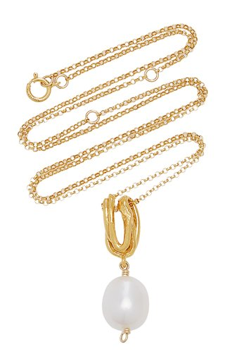 The Human Nature Pearl 24K Gold-Plated Necklace