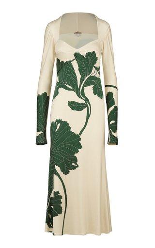 Kingdoms Of Plants Floral-Printed Jersey Midi Dress
