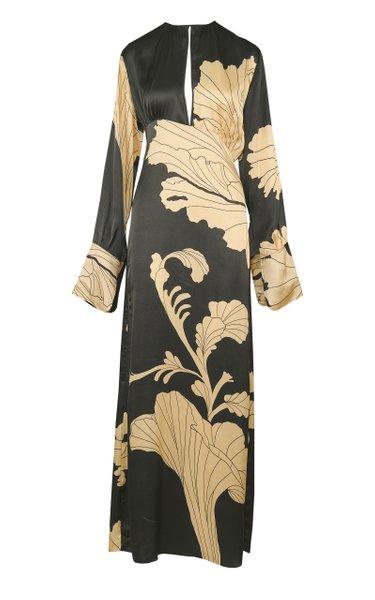 The Pursuit Of Dress Floral Satin Tunic Dress