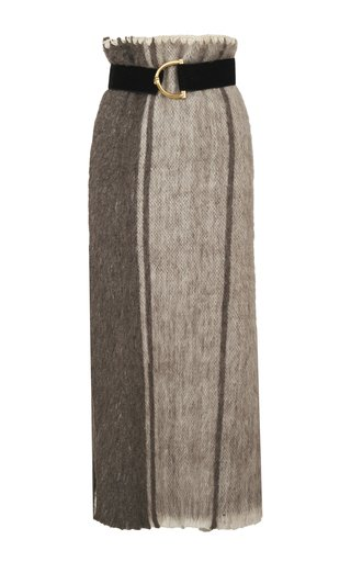 Woman Of The Ashes Belted Woven Skirt