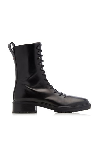 Isabel Lace-Up Leather Boots