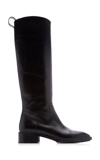 Tammy Knee-Length Leather Riding Boots