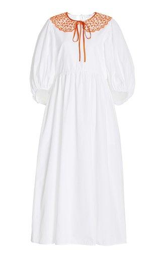 Mette Collared Organic Cotton Midi Dress