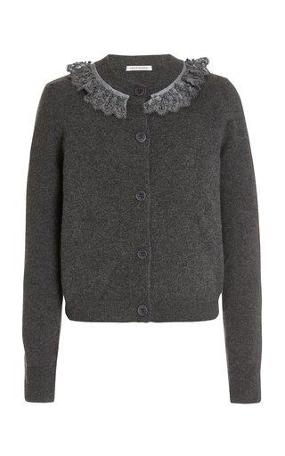 Farrah Ruffled Cashmere-Wool Cardigan