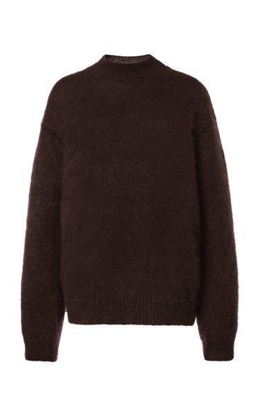 Mohair-Blend Knit Sweater