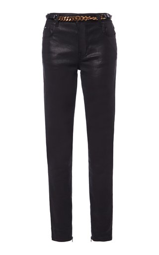 Iconic Chain-Link Stretch Low-Rise Skinny Jeans