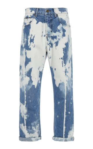 Iconic Chain-Link Rigid Mid-Rise Straight-Leg Jeans