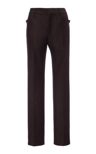 Western Wool-Blend Straight-Leg Trousers