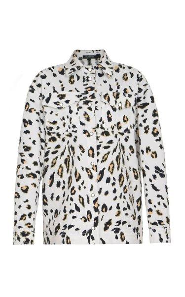 Leopard Printed Cotton-Blend Jacket