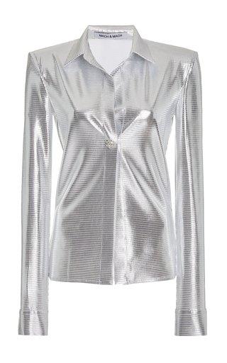 Textured Satin Shirt