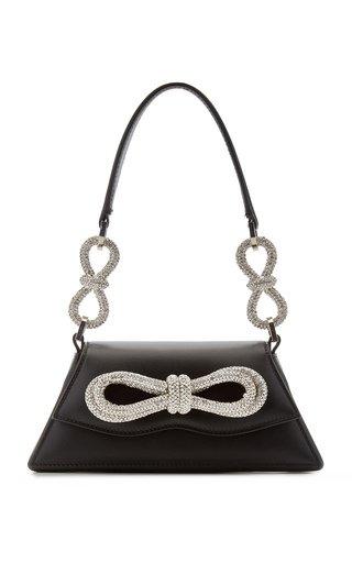 Samantha Double-Bow Leather Shoulder Bag