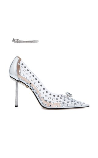 Crystal Sky High Heels With Anklet