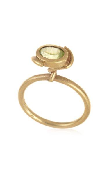 18K Yellow Gold Peridot Ring
