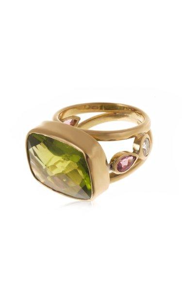 18K Yellow Gold Multi-Stone Ring