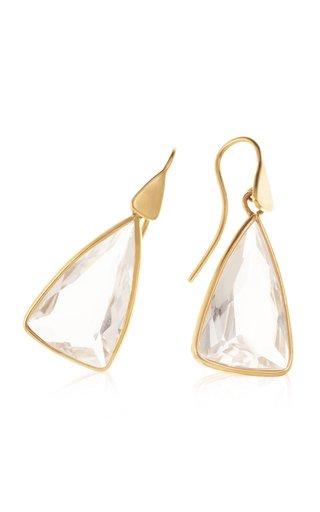 18K Yellow Gold Topaz Earrings