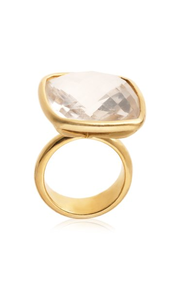 18K Yellow Gold Topaz Ring