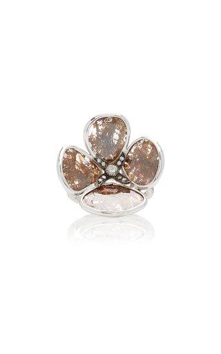 18K White Gold Sliced Diamond Ring
