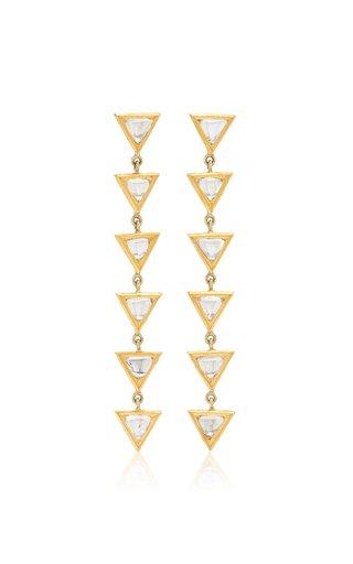 Kundan 18k Yellow Gold Diamond Earrings