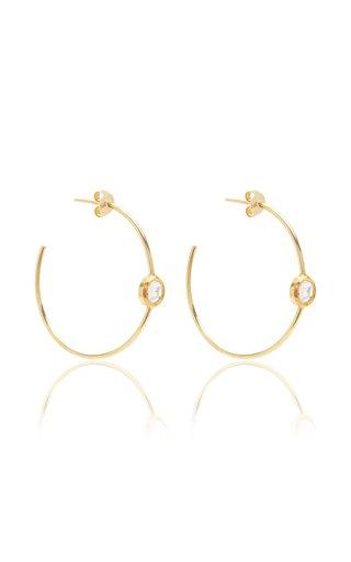 Kundan 18k Yellow Gold Diamond Hoop Earrings