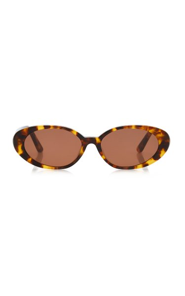 Tne Poet Round-Frame Acetate Sunglasses
