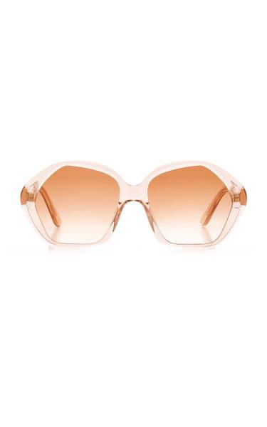 River Dream Pentagon-Frame Acetate Sunglasses