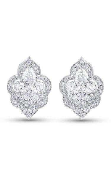 Haveli 18K White Gold Diamond Earrings