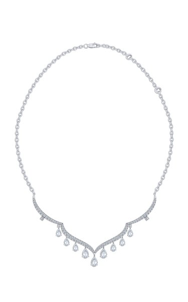 Haveli 18K White Gold Diamond Necklace