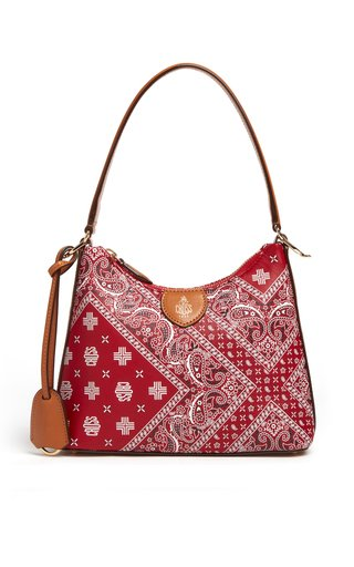Murphy Bandana-Printed Leather Shoulder Bag