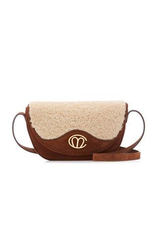 Christy Shearling and Suede Crossbody Bag