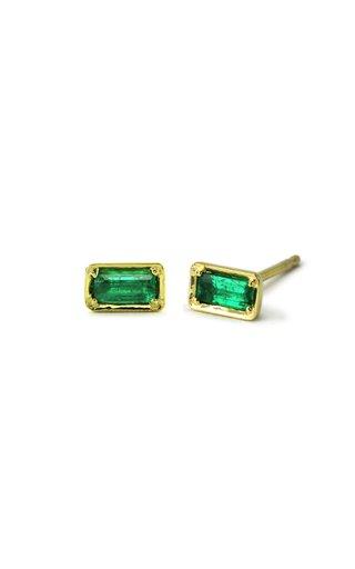 Leone 14K Yellow Gold Emerald Earrings
