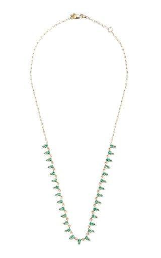 Deja 14K Yellow Gold Emerald Necklace