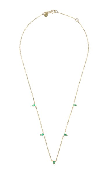 Devere 14K Yellow Gold Emerald Necklace