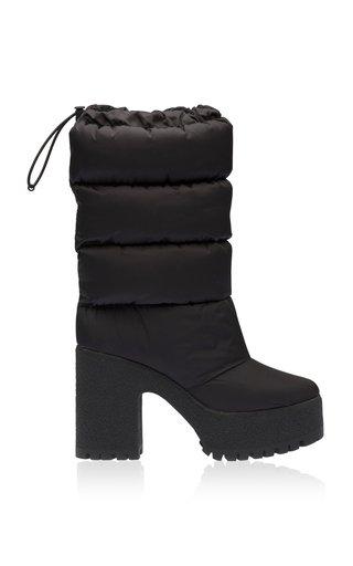 Puffy Nylon Platform Boots