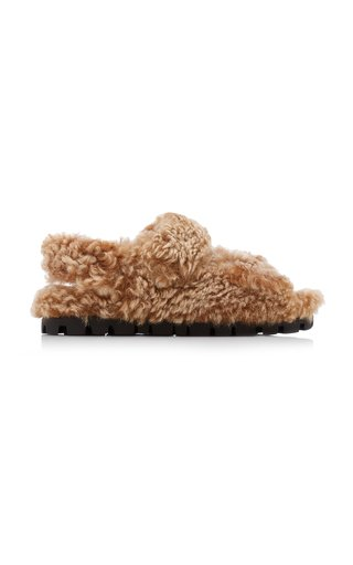 Fluff Shearling Sandals