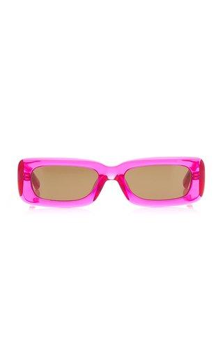 Mini Marfa Square-Frame Acetate Sunglasses