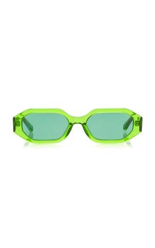 Irene Hexagonal-Frame Acetate Sunglasses