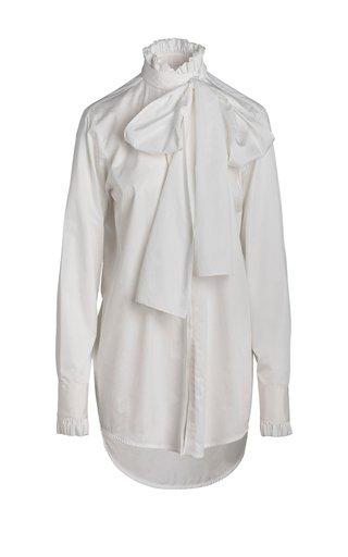 Louise Tie-Detailed Cotton-Poplin Shirt