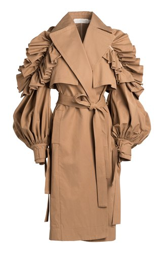 Gene Double-Breasted Cotton-Blend Trench