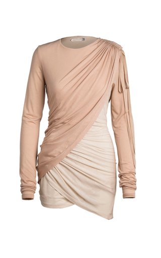 Thea Draped Eco-Friendly Fine Jersey Mini Dress