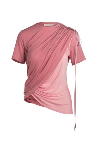 Thea Draped Eco-Friendly Fine Jersey T-Shirt