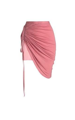 Thea Draped Eco-Friendly Fine Jersey Midi Skirt