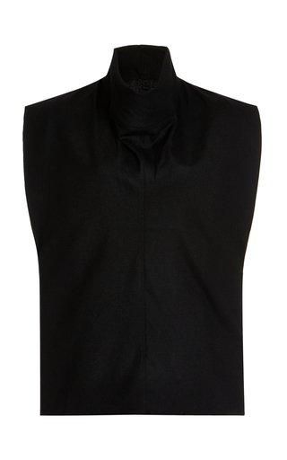 Cowl-Neck Wool-Blend Top