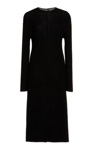 Ribbed Wool Midi Dress