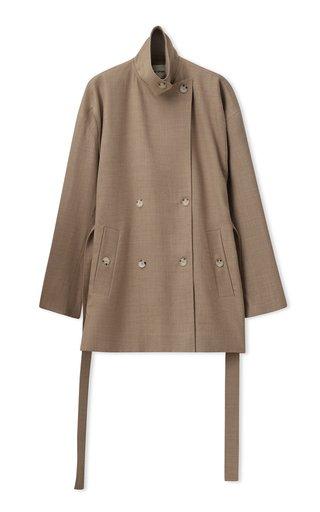 Oversized Belted Wool-Blend Jacket