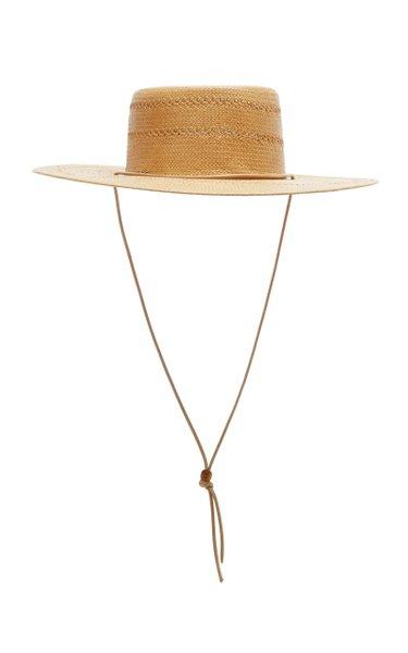 The Jacinto Raffia Boater Hat