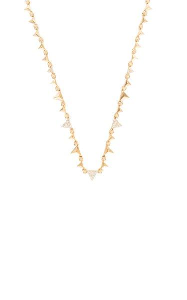 Rising 18K Rose Gold Diamond Necklace