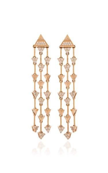 Trilogy 18K Rose Gold Diamond Earrings